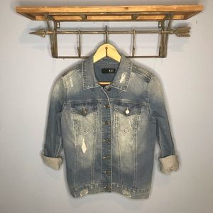 Kut from the Kloth Distressed Jean Jacket